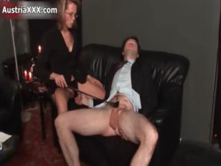 bawdy older floozy goes insane spanking