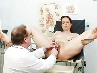 aged non-professional wife at pervy gyno doctor