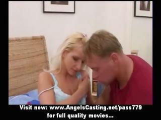non-professional amazing blond cheerleader