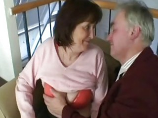 old grandfather fuck this lustful granny bitch