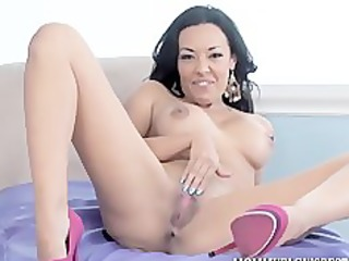 british milf rio lee acquires on her knees for