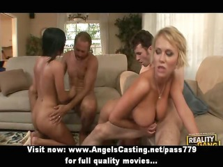 foursome sex fuckfest with two nude hotties