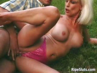 gorgeous mature golden-haired gets pierced part10