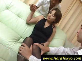 older oriental wife acquires her luscious