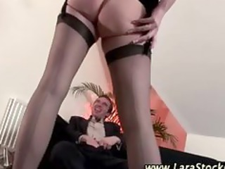 posh aged nylons babe acquires messy
