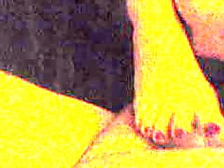 three-some cum on my wife foot