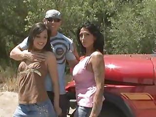 sexy breasty cougar ricki raxx and friends trio