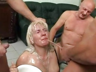 This mature whore loves to get pissed on the face!