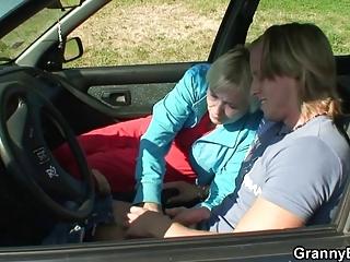 car driver bangs granny slut