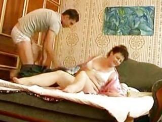juvenile hunk bangs mature corpulent momma in