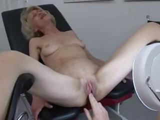 Granny gets her injection at the doctors