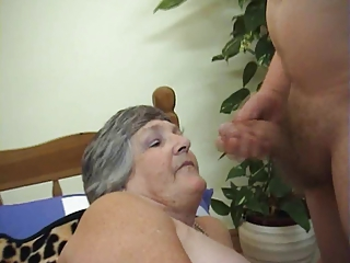 75 years old greedy grandma libby 1some