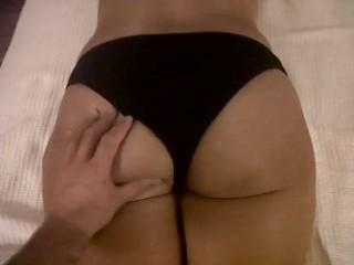 My wifes ass,shy woman!