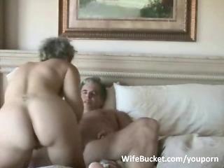 aged pair enjoys home sex