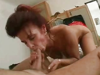 mama bonks her hubby and her younger guy in the