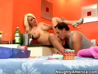 Busty blonde wife megan monroe seduces hubby for