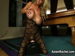 breasty blond milf acquires horny riding