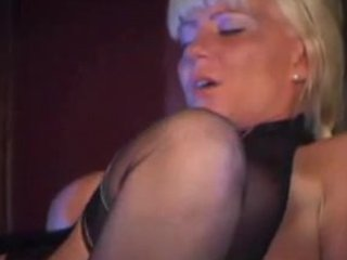 sexy golden-haired mother i in nylons copulates