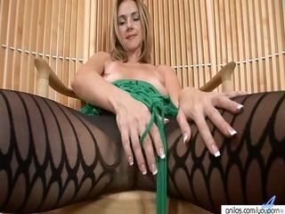 hawt mother i in hose undresses and masturbates