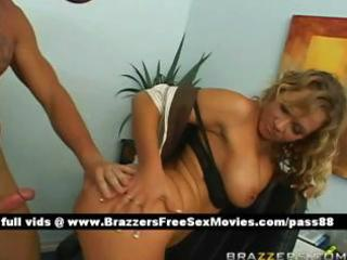 mature blond doxy on the desk acquires screwed