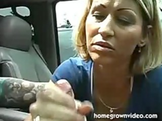 Horny mom give a nice handjob