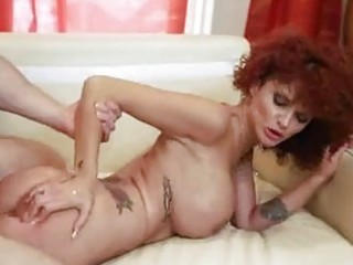 unshaved redhead mother i gets her bald slippery