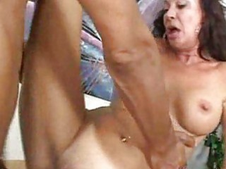 White milf fucks black boss interracial mature