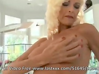 aged blonde with big tits and chunky ramrods
