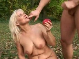 Granny fuck outdoor
