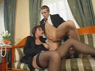 superb curly aged fuck and squirt