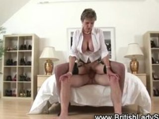 busty aged brit acquires a spunk flow