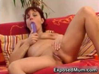 sex toy drilling mother widening her
