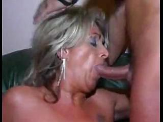 granny with hairless muff sucks their cocks and