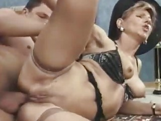 excited milf takes attractive anal gaping