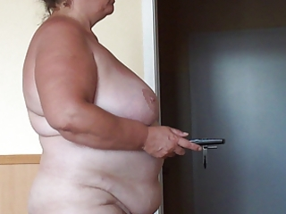Hidden cam from my german fat wife