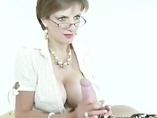 Handjob from the mistress for her servant