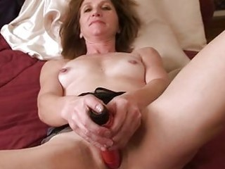 non-professional older housewife in daybed