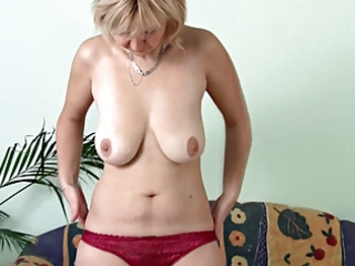 older masturbating on the couch