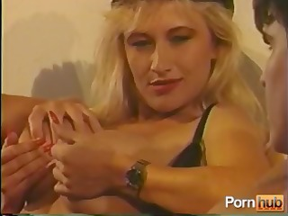 vintage hardcore with a sexy golden-haired in a