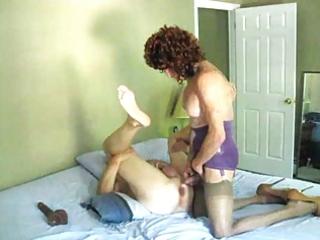 aged amanda drills a man