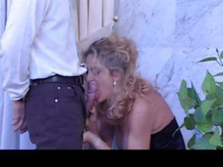 breasty blonde mature italian playgirl blows his