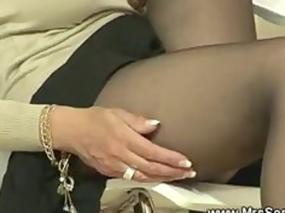 Dominas legs worshipped by slave