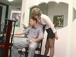 hose granny acquires oral pleasure older mature