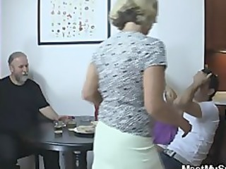 perverted parents fuck their sons gf