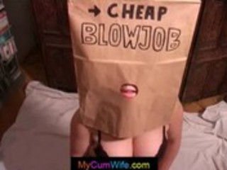 wife gives head in paper bag