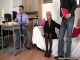 two co-owners group sex sexy mature lady