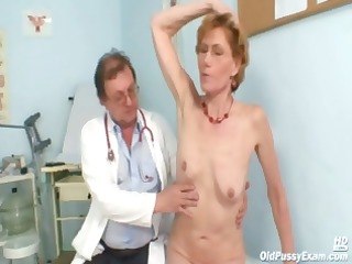 impure old lady mila needs gyno clinic scrutiny