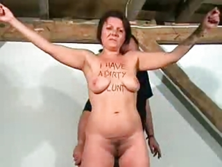 mature floozy abused
