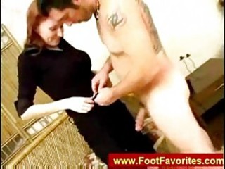 footjob from a redhead mother i