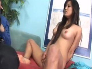 oriental mother and daughter share pecker